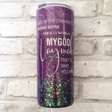 WAYMAKER FAITH GLITTER TUMBLER
