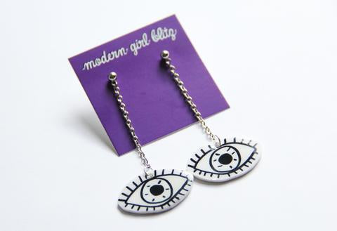 Eye Dangley Earrings