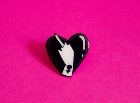 Lovely Middle Finger Brooch