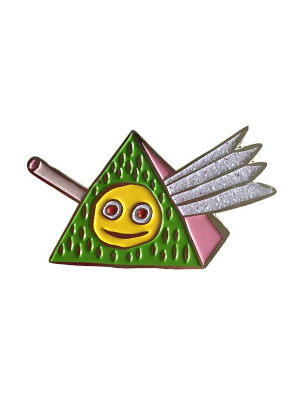 Holly Simple FUZZY PRISM ENAMEL PIN