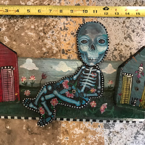 Skeleton Town ( Wooden Art )