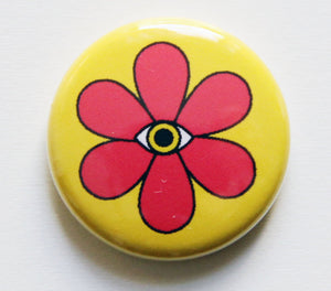 All Seeing Flower Power Button