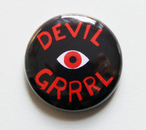 Devil Grrrl Button