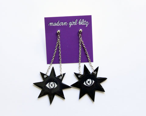 Stary Eye Dangley Earrings