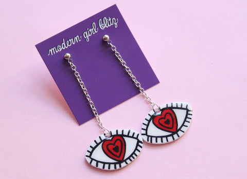 Hypnotized Eye Earrings