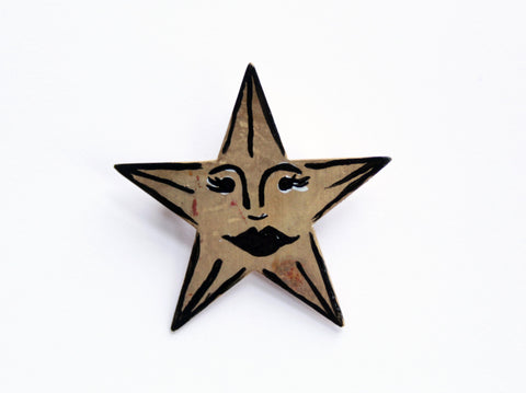 One of a Kind Vintage Star Brooch / Pin