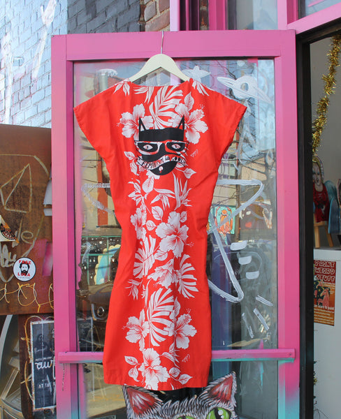 Feminism is Cool Red Floral Dress