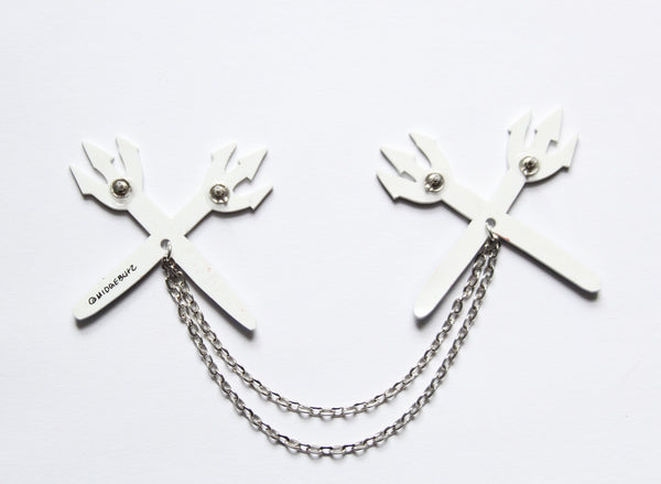Pitchfork Collar Clips