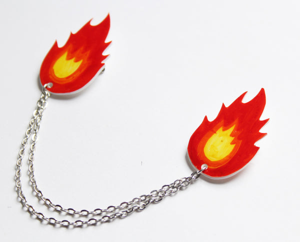 Flaming Collar Clips