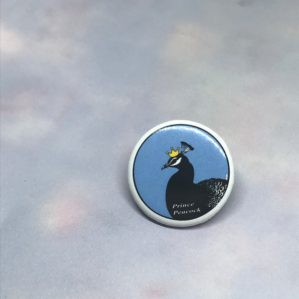 Prince Peacock Logo Button