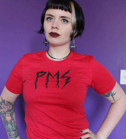 PMS Tee in Red