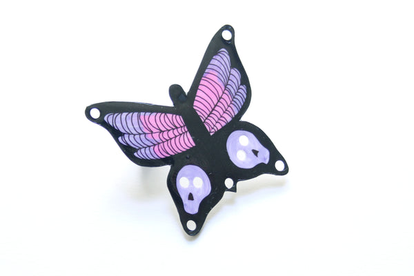 Goth Butterfly Brooch / Pin