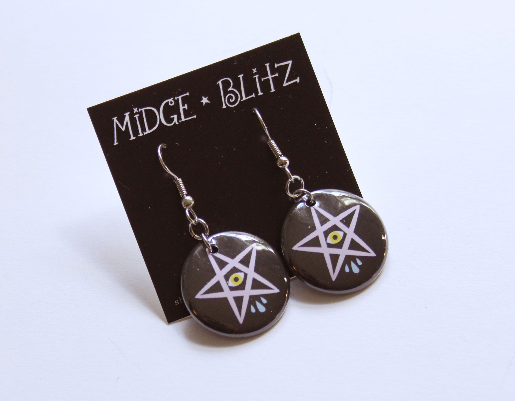 Sad Star Earrings