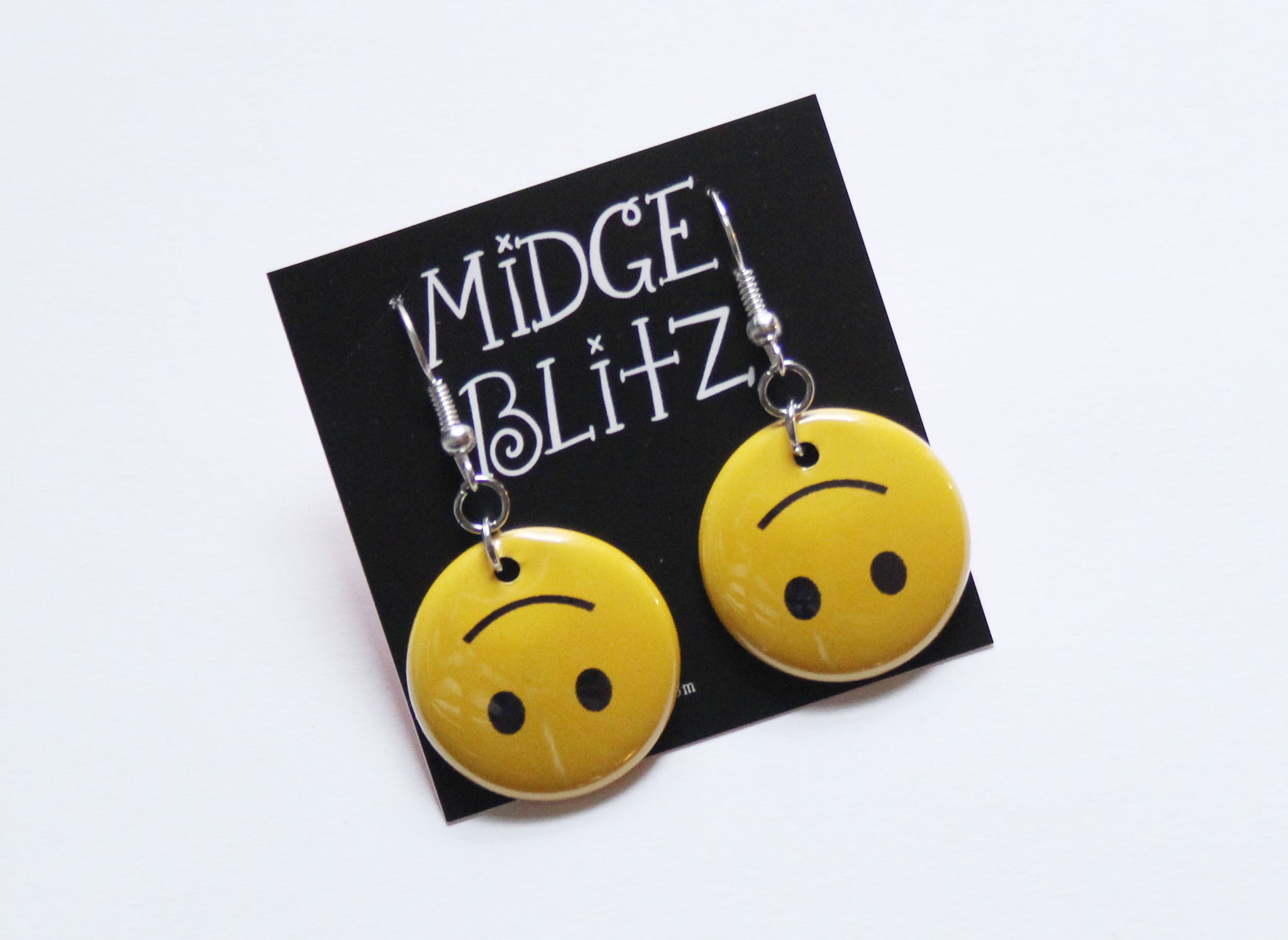 Upside-down Smiley Face Earrings