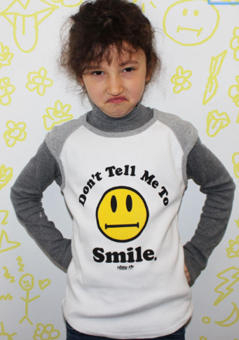 Don't Tell me to Smile Kid's Heather Tee