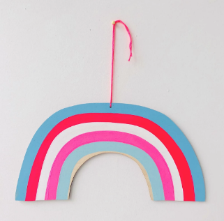 Trans Pride Rainbow Wall Hanging