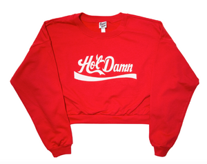Geneva Diva Hot Damn Cropped Sweatshirt