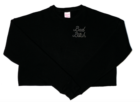 Geneva Diva Bad Bitch Cropped Crewneck