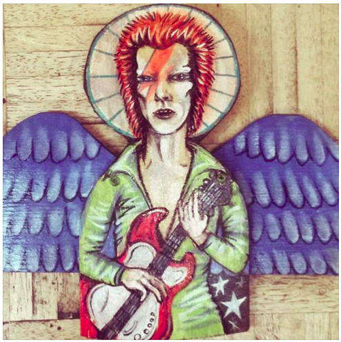 "David Bowie Angel 11""x18"" Angel Painting"