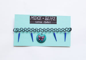 Goth Butterfly Tattoo Choker