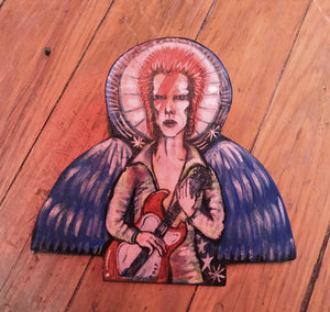 "David Bowie Angel 7"" Artwork"