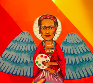 "Frida Angel Original 13""x20"" Painting"