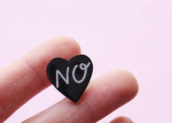 No Mini Heart Pin