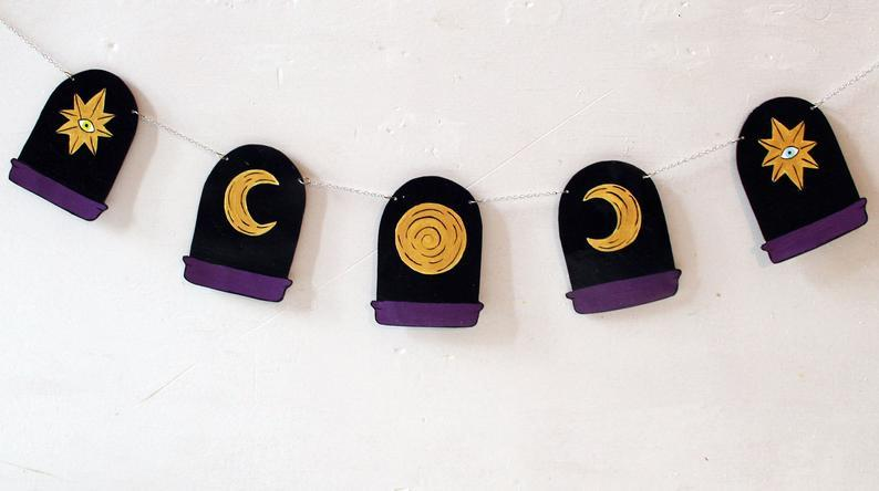 Moon Phase Window Garland Wall Art