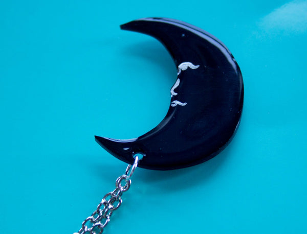 Crescent Moon Collar Clips