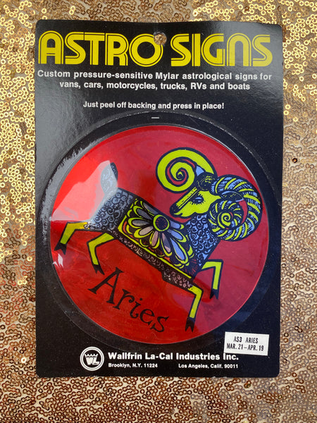 Astro Signs Vintage Mylar astrological stickers