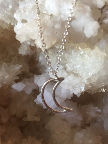 Sterling Moon Necklace