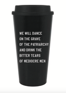 We will dance travel mug