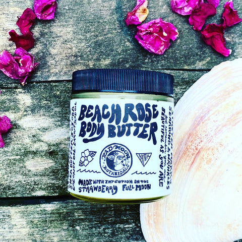 Bad Moon Botanicals Beach Rose Strawberry Full Moon Body Butter