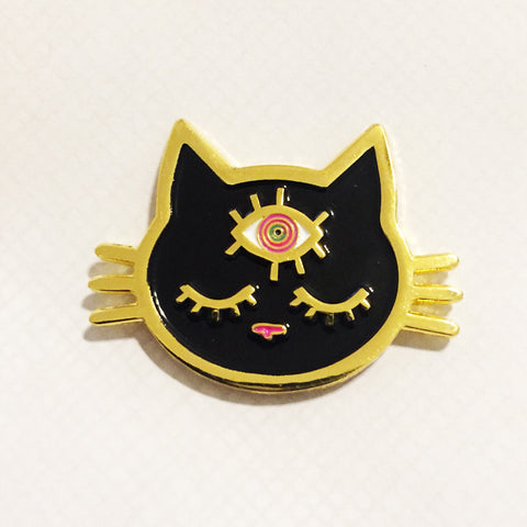 Third eye kitty pin