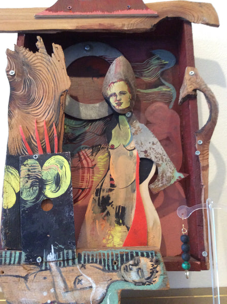 Shadow Queen Shadow Box Assemblage Painting