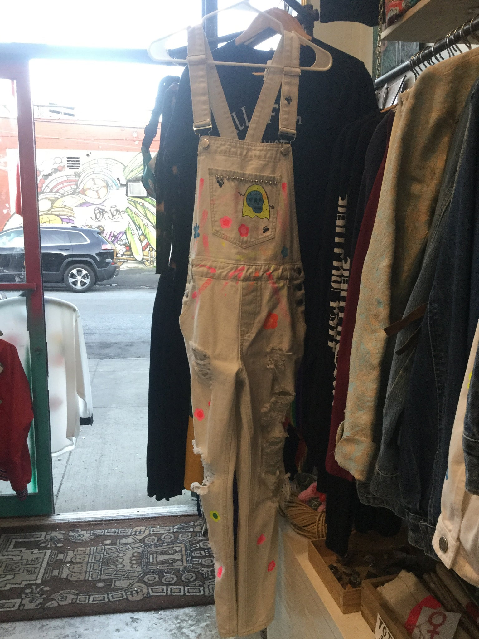 Ahh sweet death white overalls size 7