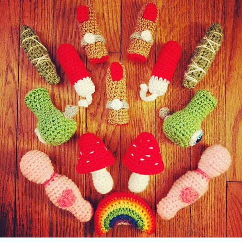 Cat and crochet Catnip toys