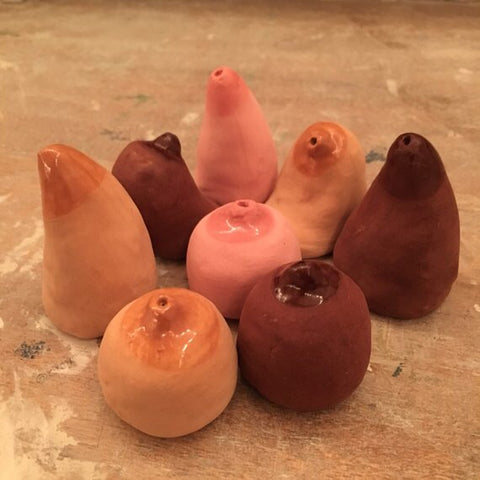 Clay Tits Incense Holder