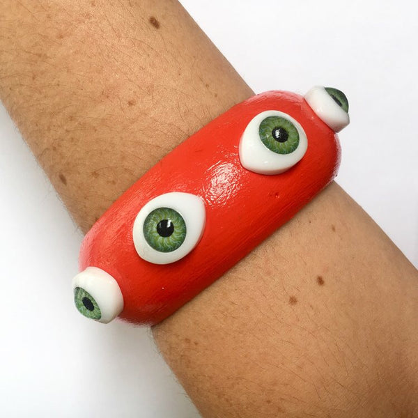 Eyes all around vermillion bangle