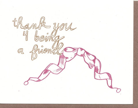 Thank Ypu for Being a Friend Card