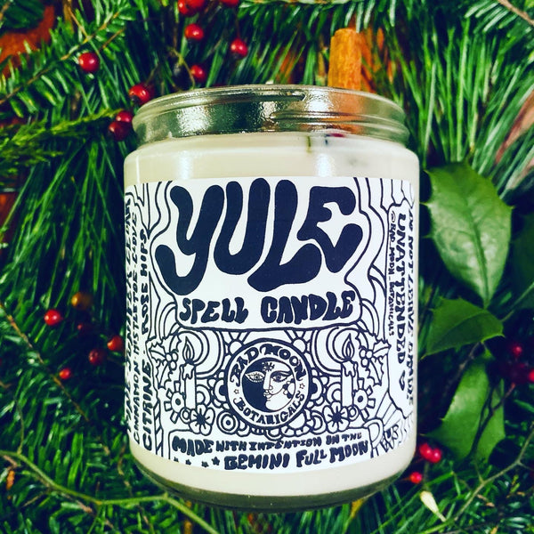 Bad Moon Botanical Yule Spell Candle