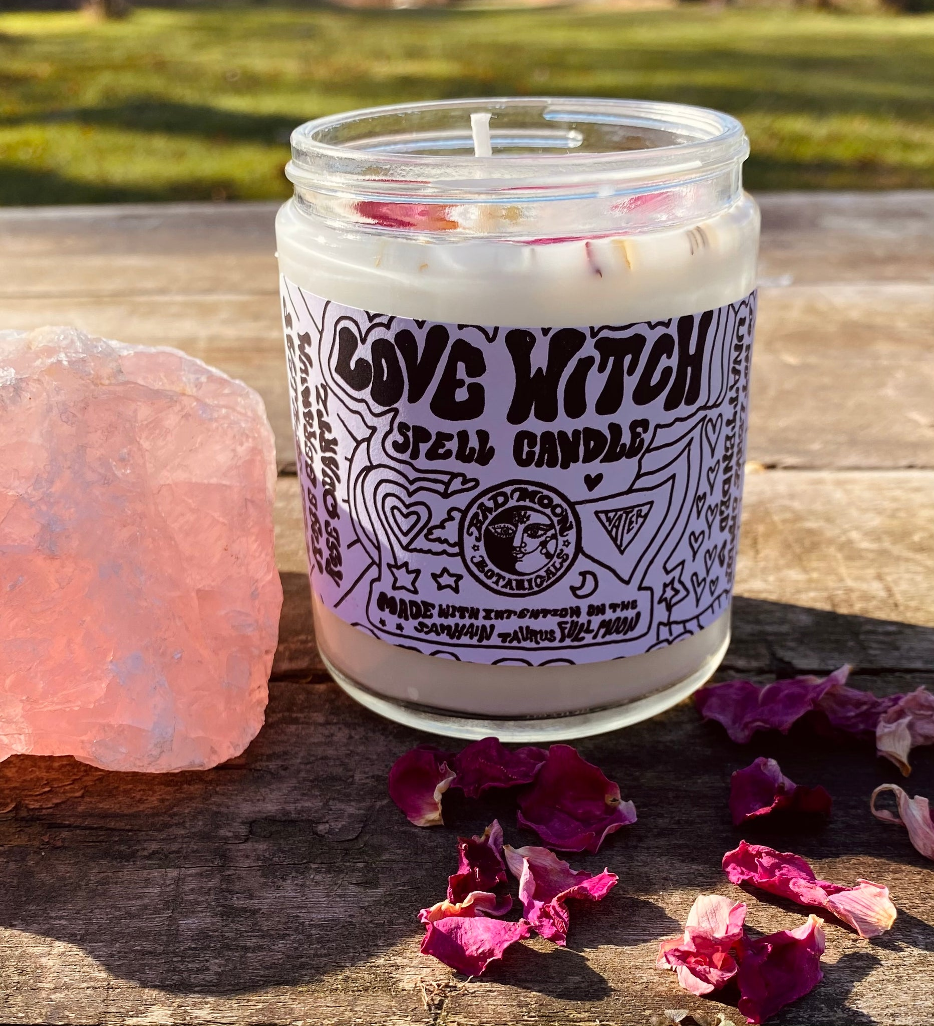 Bad Moon Botanicals Love Witch Spell Candle