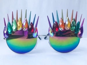 Rainbow Spiked Sunglasses