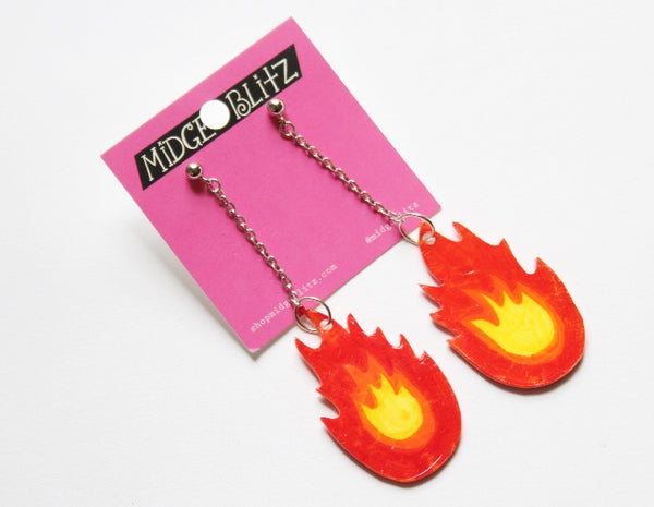 Flame Dangle Earrings