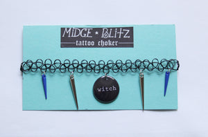 Witch Tattoo Choker