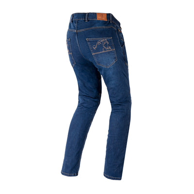 Bela Cast Denim Blue Motorcycle Mens Jeans
