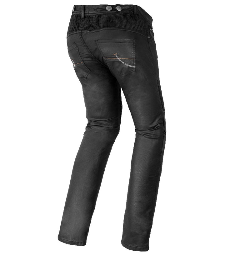 Bela Tom Men Wax Coated Denim Nero Pantaloni