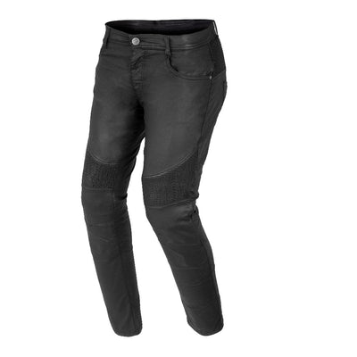 Bela Cat Lady Wax Coated Denim Pantalone Nero