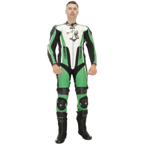 Bela Speed Star Verde 1PC Tute da Moto in Pelle Uomo