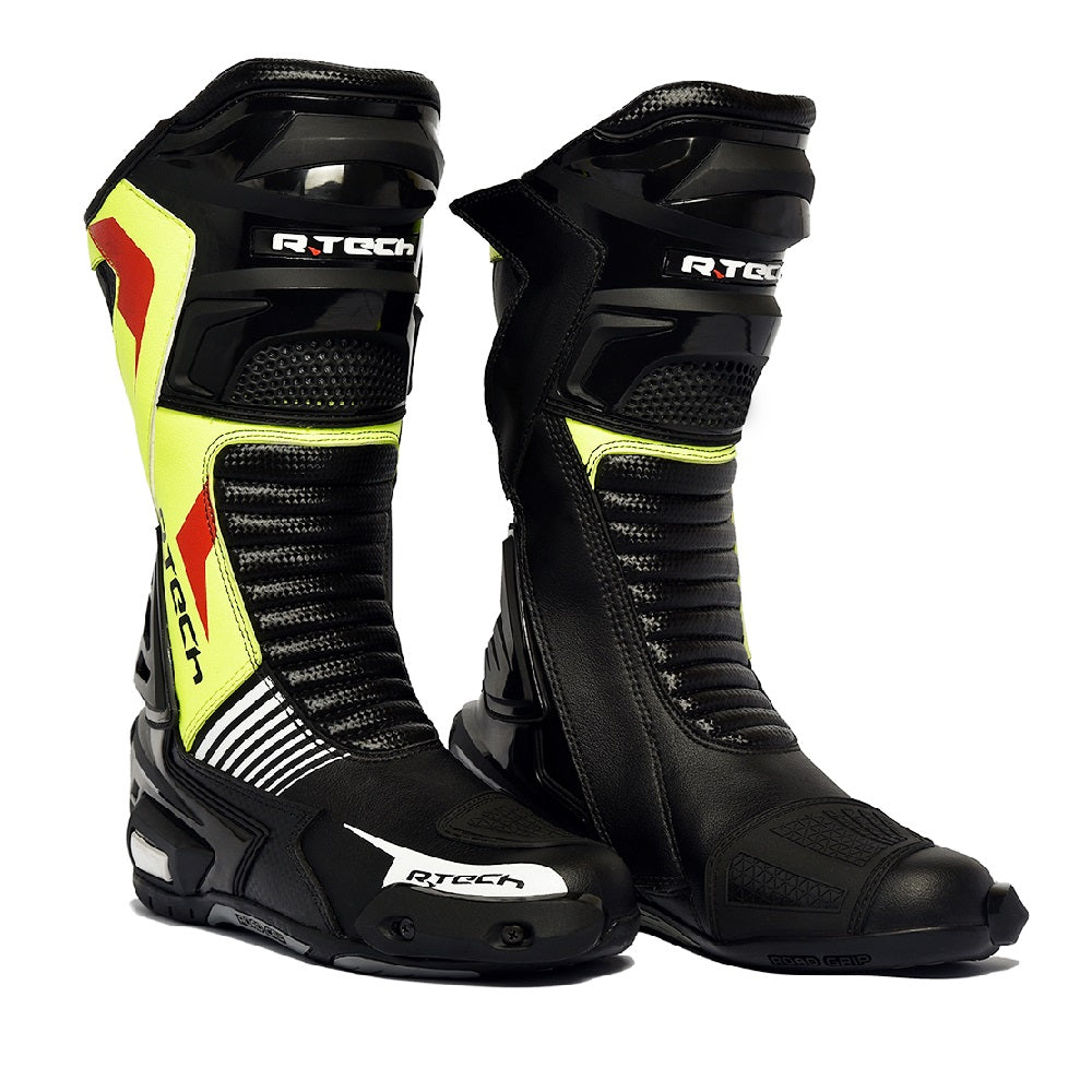 R-Tech Road Racer WP Stivali impermeabili Nero/Flu
